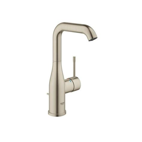 shop grohe concetto brushed nickel 1 handle fixed deck mount bathtub faucet at lowes com shop grohe essence brushed nickel 1 handle single hole