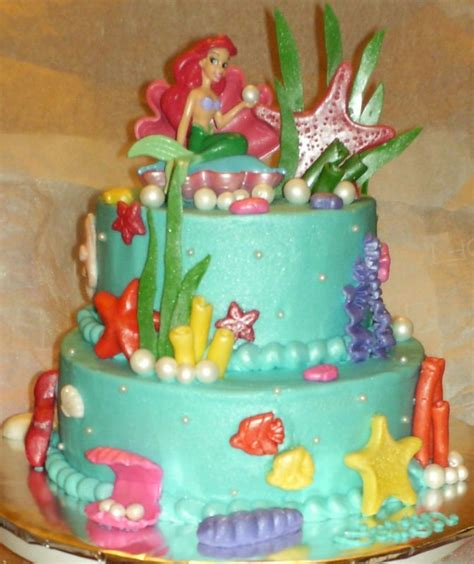 Ariel Cake Decorations by Fondant Cakes And Tips On Ariel Fondant Cakes