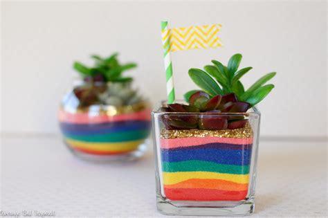 rainbow sand art terrariums