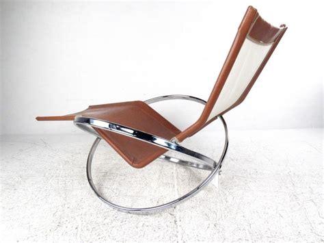 vinyl chaise lounge chairs unique mid century modernist chrome and vinyl chaise