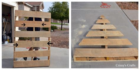 turn a wood pallet into a christmas tree home design