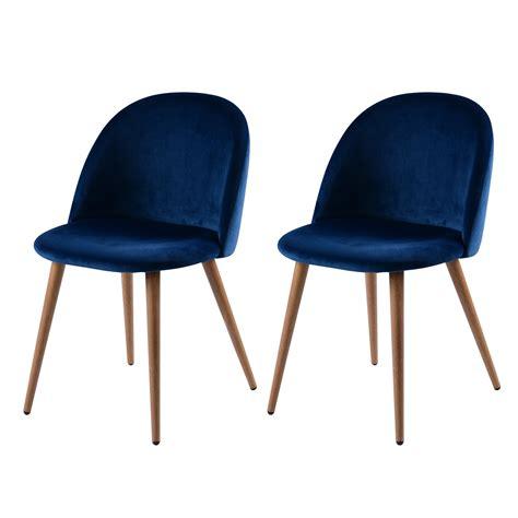 chaises paillées chaise cozy en velours bleu lot de 2 commandez les