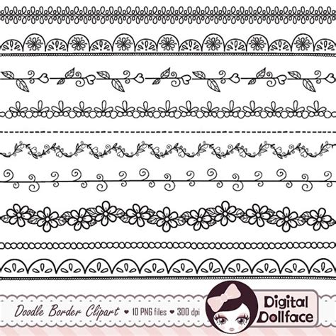 how to draw doodle borders digital doodle border clip black border