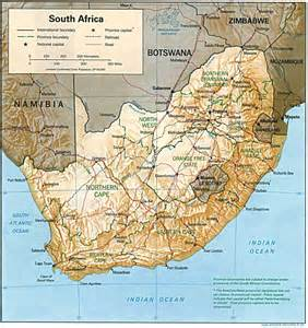 south africa physical map south africa geography south