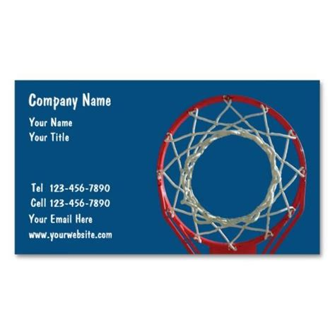basketball business cards templates 10 images about sports coach business cards on