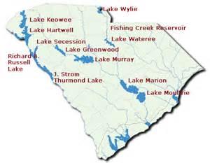 map of carolina lakes lake marion sc map
