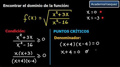 raiz cuadrada de 68 dominio de una funci 243 n con ra 237 z cuadrada