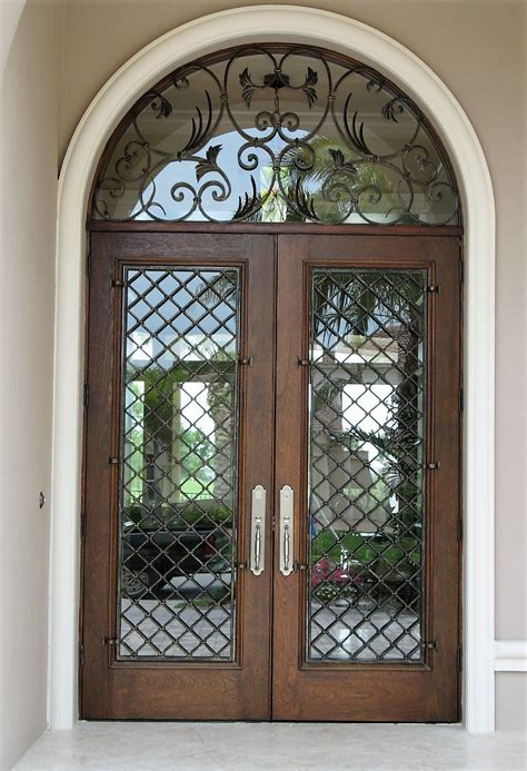 glass front doors with wrought iron wrought iron doors custom iron doors monarch custom doors