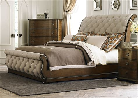 sleigh bed bedroom sets cotswold upholstered sleigh bed 6 piece bedroom set in