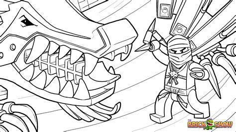 lego ninjago zane and his ice dragon coloring page