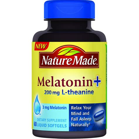 supplement l theanine nature made melatonin 200mg l theanine dietary