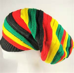 jamaican knit hats baggy style rasta roots dread knit cap hat africa