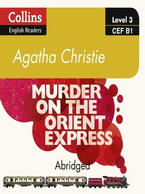 murder on the orient express b1 collins agatha christie elt readers books murder on the orient express by agatha christie