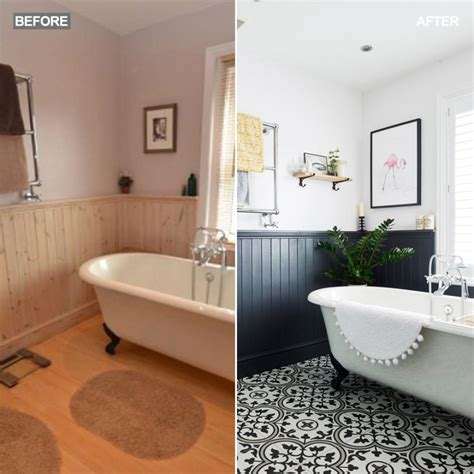 bathrooms ideas uk before and after this bathroom went from dated to statement ideal home
