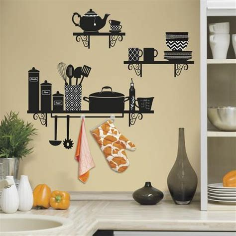 peel and stick wall decor build a kitchen shelf peel and stick giant wall decals