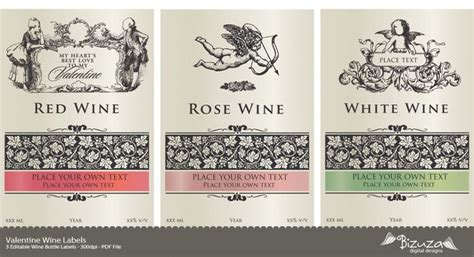 Wine Label Template Pdf printable wine label wine labels editable