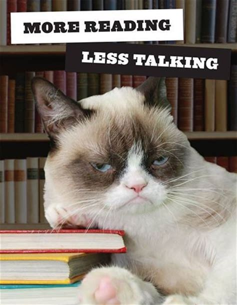 Talking Cat Meme - unless you want to talk about books read because it s