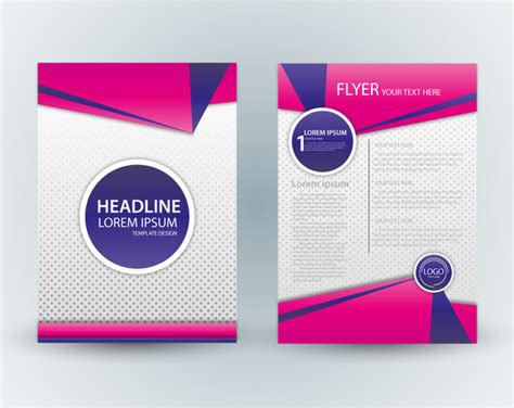 background layout majalah template layout majalah flyer template design with pink