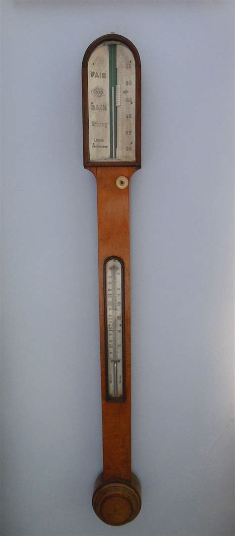 Thermometer Stick 19th century burr maple stick barometer thermometer 298544 sellingantiques co uk