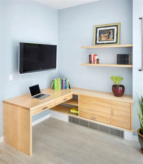 Custom Home Office Desk Custom Built In Desk Modern Home Office New York By Pickett Furniture