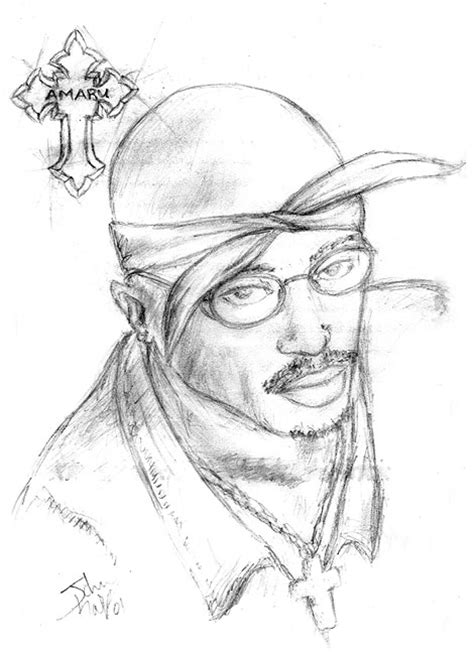 2pac Sketches by 2 Pac Shacur Free Colouring Pages