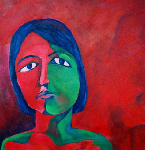 red mood a red mood painting by maya hiort petersen