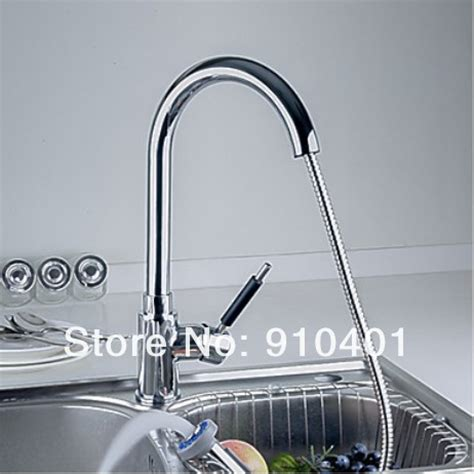 chrome modern kitchen faucet with pull out dual shower polished chrome finish pull out dual spray kitchen faucet