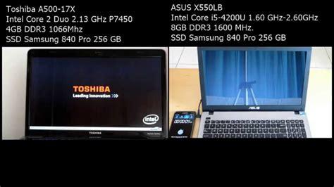 Hp Vs Asus Vs Toshiba Laptop asus vs toshiba laptop with ssd samsung 840 pro 25
