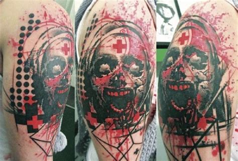 simple zombie tattoo 10 shocking but imaginative zombie tattoos