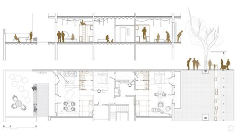 Plan Section Drawing by Gallery Of 2 Dwellings At Tamarit St Carles Enrich 13