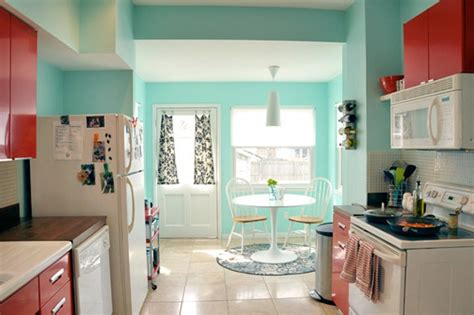 retro modern kitchen living with color pinterest