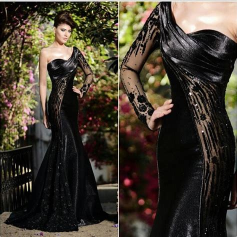 Dress Zipper Blink 2015 rami salamoun arabic evening dresses sheer