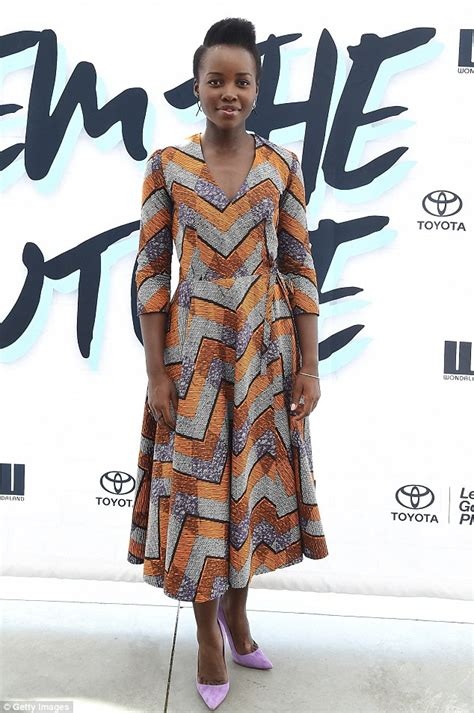 Pattern Lupita Dress lupita nyong o shows flair for fashion in geometric dress at pre vma event in nyc daily