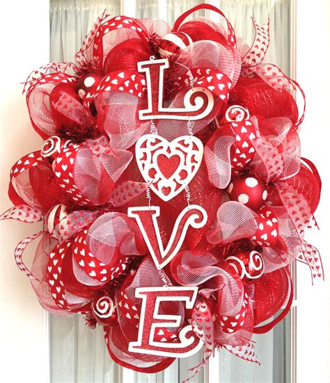 valentines day wreaths oval deco mesh wreath s day by southerncharmwreaths