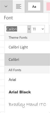 font kotak mengubah font di aplikasi office di perangkat seluler