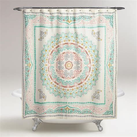 threshold medallion shower curtain threshold medallion shower curtain red curtain
