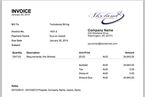 logo design invoice sle invoices official weworked blog