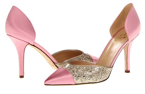 blush pink with gold wedding shoes onewed