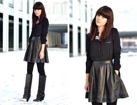 de b printed leather skater skirt printed