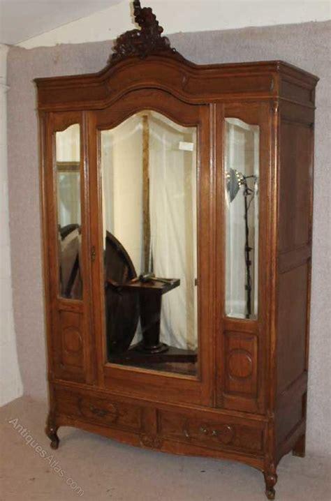 3 door antique armoire oak louis xv 3 door mirrored armoire antiques atlas