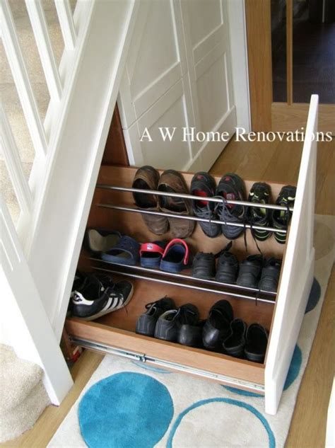 Shoe Rack For Stairs by 20 Best Ideas About Shelves Stairs On Stair Storage Stair Storage And