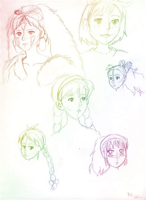 studio ghibli sketches by tiger lily valley on deviantart