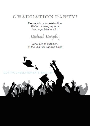 Free Printable Graduation Invitations Templates Free Graduation Announcements Templates Downloads