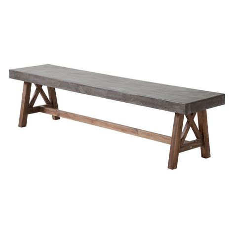 plank dining bench ford cement natural wood dining table moss manor