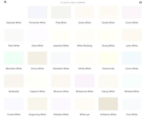 shades of white paint you can have any colour paint as long as it s white and