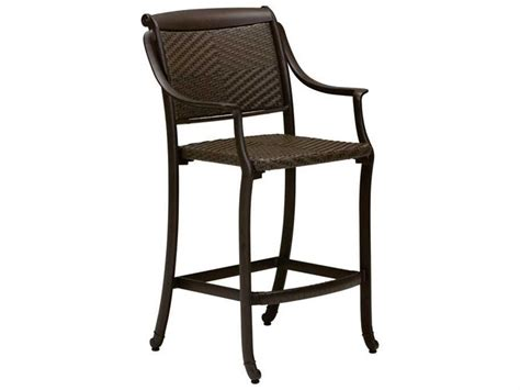 Woven Seat Bar Stools by Tropitone Belmar Woven Bar Stool Tp340926ds