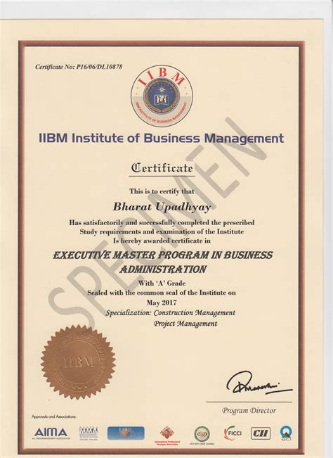 Post Mba Certificate Canada by Sle Certificate For Mba Project Choice Image
