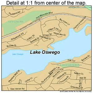 lake oswego oregon map 4140550