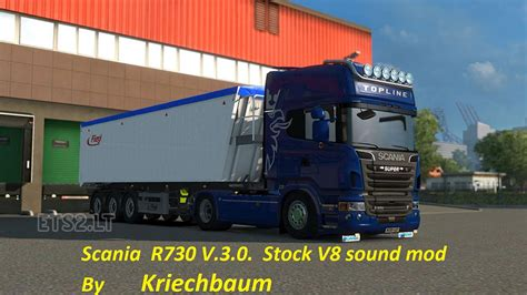 stock sound scania r730 v3 0 stock v8 sound mod ets 2 mods
