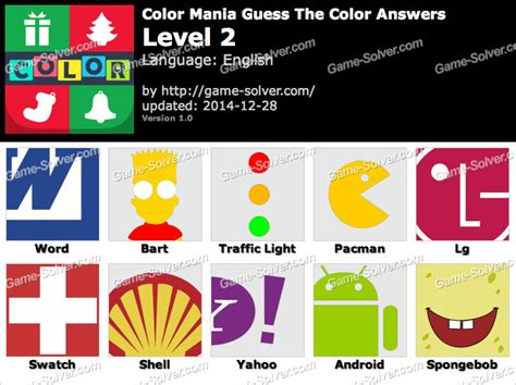 guess the color answers color mania guess the color level 2 solver